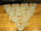 Vintage Anchor Hocking Wexford Crystal Punch / Snack Cups Set of 10 EUC