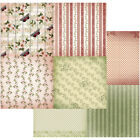 Vintage Rose Garden Double Sided Paper 12X12 Butterflies  Stripes 4 10 Pack