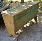 Primitive antique handcrafted grain bin meal bin barn bin Farmhouse Rustc