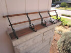 1897 INDIANAPOLIS ~UDELL~ HAT/COAT WALL RACK w/5 CAST METAL HOOKS