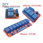 2CH 4CH 8CH Channel Relay Module Board With Optocoupler H L Level Triger 5V 24V