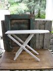 Very Small Antique Child's Wood Ironing Board Original White Paint