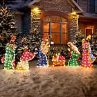 Set Of 6 Lighted Outdoor Nativity Scene Holy Family Christmas Yard Decorations