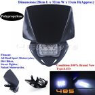 Black Motorcycle Dirt Bikes LED Headlight Head Lamp Fairing For Suzuki DR-Z400S