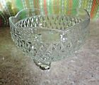 Footed dish, candy/ relish/ sauce. Diamond point pattern