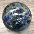 Kitras Art Glass Friendship Fairy Orb Witch Ball Purple Glass 6