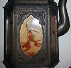 Antique Chinese Panel teapot incense Burner with signed original Paintings