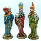 Vintage 3 Wisemen Nativity Figures Christmas Paper Mache Jewel Made In Japan 10