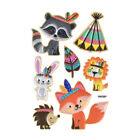 Woodland Puffy Embossed Stickers 7 Piece