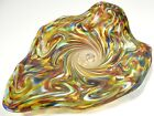 HAND BLOWN GLASS ART WALL OR TABLE PLATTER DIRWOOD GLASS END OF DAY GOLD MORE