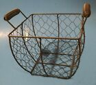 Rustic Chicken Wire Gathering Basket - Primitive Country Decor