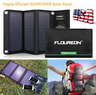 Solar Panel Battery Charger Waterproof 2 USB Foldable Portable for Phone Tablet