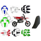 Plastic Fairing Kit Fender tall black Seat kit Honda CRF70 CRF 70 Dirt Pit Bikes