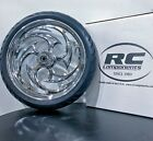 Harley Davidson Savage Chrome wheel and tire package by RC Components