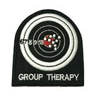 GROUP THERAPY Embroidered Patch Iron On Sew On Funny Badge Emblem Applique