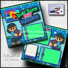 DONT TOUCH MY TABLET boy 2 premade scrapbook pages paper piecing CHERRY 0049