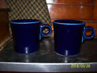 2 Fiesta HLC ~ Blue ~ Tom and Jerry Ring Handle Coffee Mug/Tea Cups