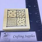 Hooks Lines  Inkers Rubber Stamp Patchwork Quilt Block