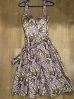 BCBG Paris Purple Floral Print Dress, size 2