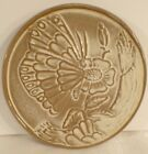 Frankoma Pottery # BTR Trivet With Butterfly On Flower Sandy Brown 6