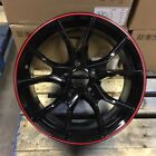 NEW 2018 FK8 CIVIC TYPE R STYLE 18 BLACK RED LIP WHEELS RIMS FITS HONDA ACURA