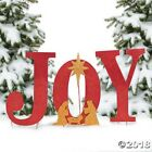 JOY Nativity Christmas Decoration Outdoor Metal Yard Signs Stakes Outside Large