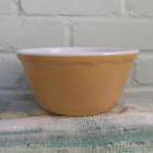 Hazel Atlas CCC Scalloped Edge Tan Fired-On Mixing Bowl