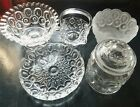 Stars Glass Clear Frosted Bowl EAPG Lot