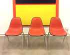 Mid-century Vintage Herman Miller Eames Stacking Side Chairs (Orange