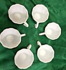 5 Alpine White Swirl Punch Cups by Hazel Atlas Milk Glass