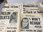 history of PRESIDENT NIXON quantity of 5 different NEWSPAPERS Richard M 1974