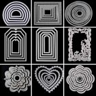 Metal Cutting Dies Circle Frame Stencils For DIY Scrapbooking Embossing Paper