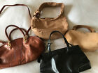 4 Assorted leather and suede handbags