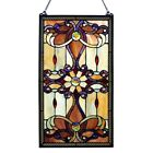 PAIR  Stained Glass Victorian Design Tiffany Style Window Panels  15