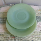 Vintage Fire King Oven Glass Jadeite Jane Ray Saucers