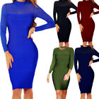Women Dresses Long Sleeve Sexy Bodycon Casual Cocktail Party Evening Lady Dress