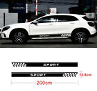 2Pcs Sports style Both Side Vinyl Decal Sticker Race Car Long Stripe Decals