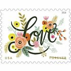 Love Flourishes 5 Sheets of 20 USPS First Class Forever Postage Stamps Weddin...
