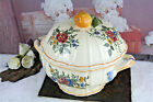 French Porcelain Bowl center piece table floral apple marked JVD