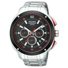 PULSAR SPORT CHRONOGRAPH DATE BLACK DIAL STAINLESS STEEL MEN'S WATCH PT3395 NEW