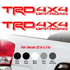 Toyota Trd 4x4 Off Road Racing Tacoma Tundra Truck 2 Pair Decal Sticker Vinyl Or