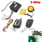 Motorcycle 2-Way Security Alarm System Anti-theft Remote Control Immobilizer