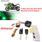 Motorcycle 2Way Security Alarm System Anti-theft Remote Control Start Waterproof