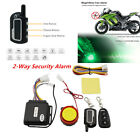 2-Way Motorcycle Security Alarm System Anti-theft Engine Start ABS Plastic Black
