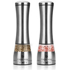 Best Electric Salt and Pepper Grinder Set Battery Operated Pepper Mill with LED
