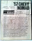 Vintage Monogram Parts - 1957 Chevy Nomad Instruction Sheet - Dated 1978