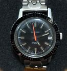 Vintage Waltham Diver Watch All SS Case,Signed Crown