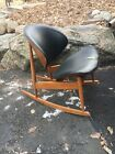 Mid Century Modern Kodawood Clam Shell Rocker Rocking Bent Ply Lounge Chair