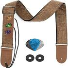 Straps Guitar For Electric Acoustic Bass And Ukulele With Leather Ends Pick 2