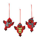 Cardinal Christmas Ornaments Holiday Decoration Set of 3